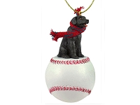 Labrador Retriever Chocolate Baseball Ornament