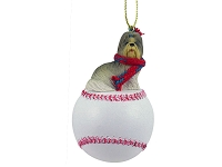 Shih Tzu Mixed Baseball Ornament