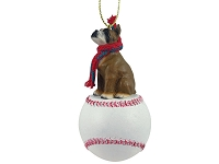 Boxer Baseball Ornament