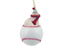 Maltese Baseball Ornament
