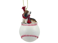 Basset Hound Baseball Ornament