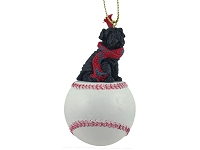 Shar Pei Black Baseball Ornament