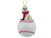 West Highland Terrier Baseball Ornament