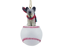 Skye Terrier Baseball Ornament
