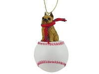 Brussels Griffon Red Baseball Ornament