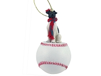 Fox Terrier Black & White Baseball Ornament
