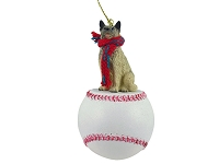Norwegian Elkhound Baseball Ornament