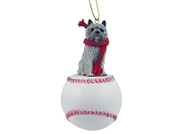 Cairn Terrier Gray Baseball Ornament