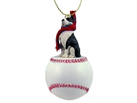 Pit Bull Terrier Brindle Baseball Ornament