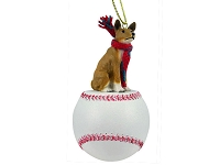 Basenji Baseball Ornament