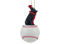 Schipperke Baseball Ornament