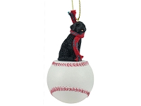 Portuguese Water Dog Baseball Ornament