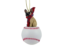 French Bulldog Fawn Baseball Ornament