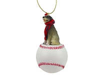 Irish Wolfhound Baseball Ornament