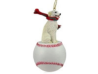 Kuvasz Baseball Ornament