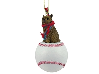 Norwich Terrier Baseball Ornament