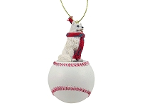 American Eskimo Baseball Ornament