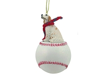 English Setter Belton Orange Baseball Ornament