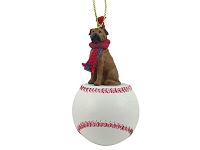 Bullmastiff Baseball Ornament