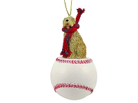 Soft Coated Wheaten Terrier Baseball Ornament