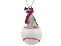 Australian Shepherd Blue Baseball Ornament