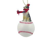 Australian Shepherd Blue w/Docked Tail Baseball Ornament
