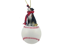 Australian Shepherd Tricolor Baseball Ornament