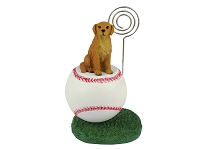 Golden Retriever Baseball Memo Holder