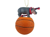 Hippopotamus Basketball Ornament