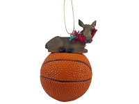 Moose Cow Basketball Ornament