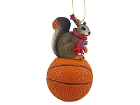 Squirrel Red Basketball Ornament