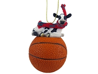 Holstein Cow Basketball Ornament