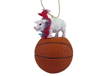 Pig Pink Basketball Ornament
