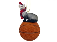 Ferret Basketball Ornament
