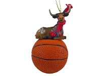 Long Horn Steer Basketball Ornament