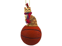 Red Tabby Manx Basketball Ornament