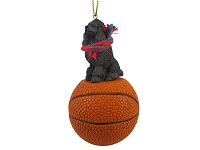 Poodle Chocolate Basketball Ornament