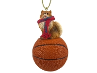 Pomeranian Red Basketball Ornament