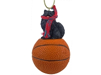 Pomeranian Black Basketball Ornament