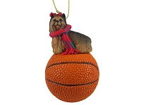 Yorkshire Terrier Basketball Ornament