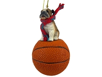 Bulldog Basketball Ornament