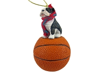 Bulldog Brindle Basketball Ornament