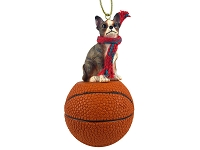Chihuahua Brindle & White Basketball Ornament