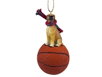 Great Dane Fawn w/Uncropped Ears Basketball Ornament