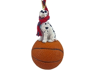Great Dane Harlequin w/Uncropped Ears Basketball Ornament
