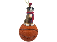 Boxer w/Uncropped Ears Basketball Ornament