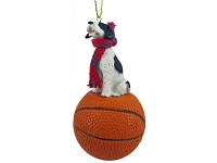 Pointer Black & White Basketball Ornament