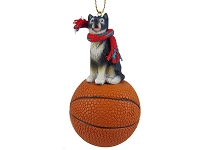 Alaskan Malamute Basketball Ornament