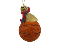 Lhasa Apso Blonde Basketball Ornament