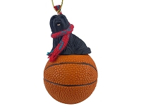 Lhasa Apso Black Basketball Ornament